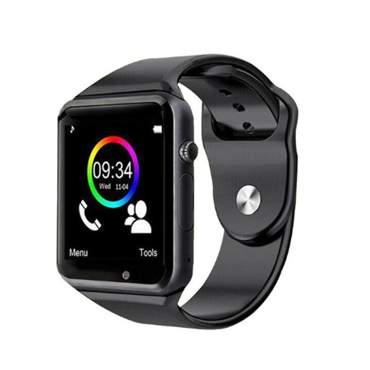 2021 di Smart watch A1 Variopinto All'ingrosso di DEVIAZIONE STANDARD Della Macchina Fotografica Della Carta BT Smart Phone Mobile Della Vigilanza Con La Carta Sim per Android IOS delle cellule Del Telefono