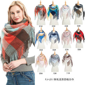 Women Fashion Winter Geometric Scarves Shawl Wraps Wholesale