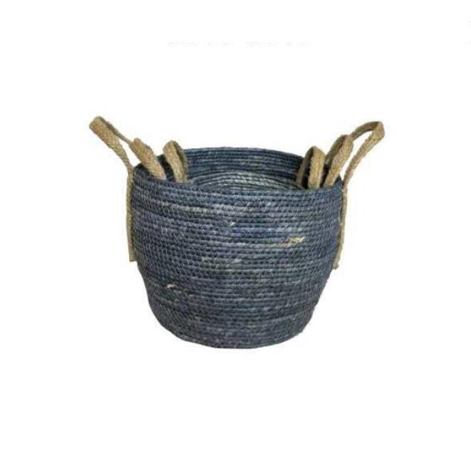 Cesta de Pascua SLHP Cesta para el Pan peque/ña 3 Unidades Cesta de Mimbre Natural Cesta de bamb/ú Cesta Decorativa de Cocina