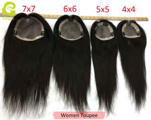 Fast Shipping wholesale 100% real virgin brazilian human hair topper for women hair toupees 4x4 5x5 6x6 7x7