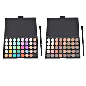 40 Color Pearly Matte Nude Shade Eye Shadow with Brush