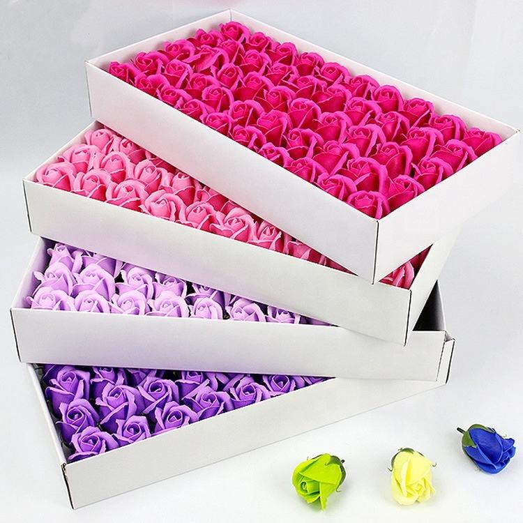 QSLH-SFE019 Valentines Day 50 Flower Artificial Soap Rose Gift Box