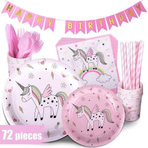 Kid Verjaardag Decoraties Gunsten Set Eenhoorn Birthday Party Leverancier