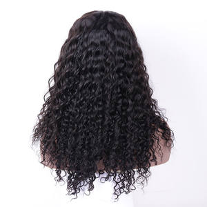 100% Human Hair Brazilian Hair 13*4 Lace frontal Wig Virgin Cuticle Aligned Hair Curly Wave