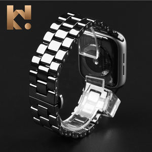 KeepWin Compatible Smart Bracelet Belt Strap Wristband Stainless Steel Ceramic Watch Band