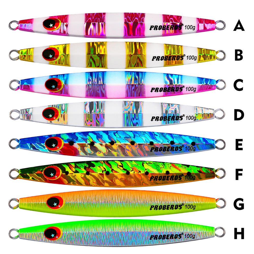 EASYPOO Metal Jigging Lure 60g 80g 100g Vertical Jig Saltwater Lead Fishing Lures Slow Pitch Bait Trolling Jigs Saltwater Lures