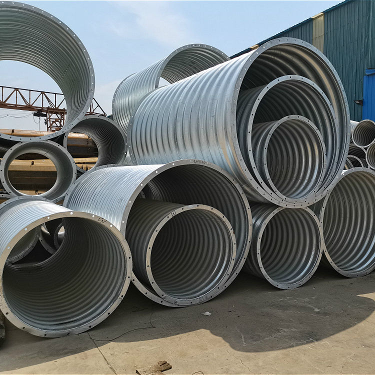 20 inch galvanized culvert pipe with diameter 0.5-12 meters
