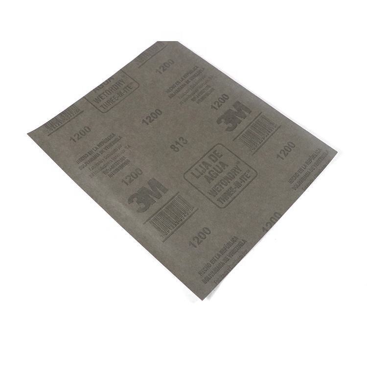 1000 grit diamond automotive sand paper spray 3m abrasives coated sanding paper 3m