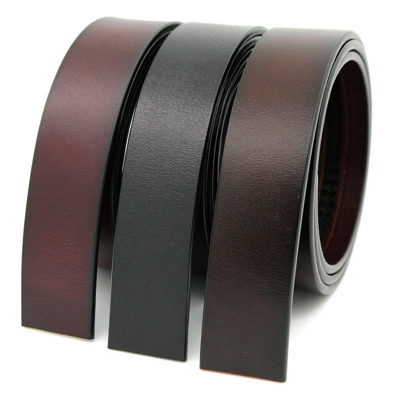 LQbelt 100% Pure cowhide leather belt strap Men's automatic buckle belt without buckles ratchet belt strap factory