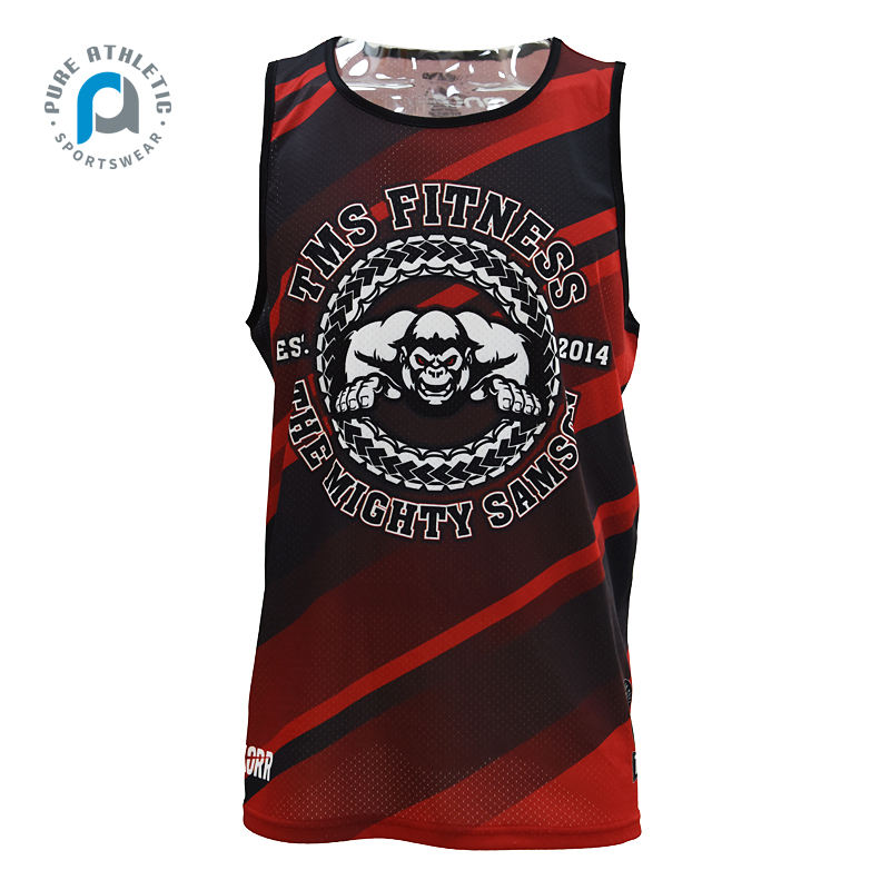 PURE Custom Cheap Price 100% Polyester Sublimation Team Club Breathable Wholesale Unisex Training Singlets