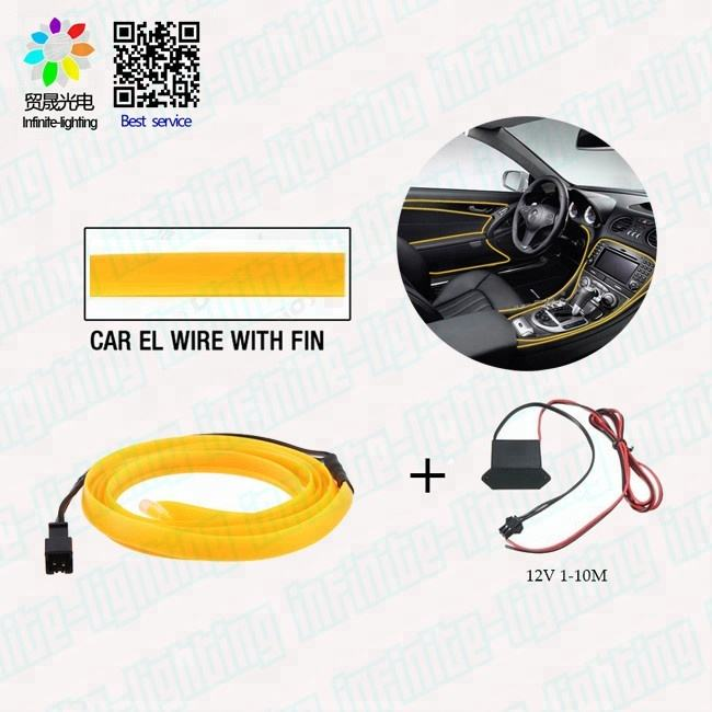 Neon el wire for clothes decoration el wire battery inverter el light up light up cloth