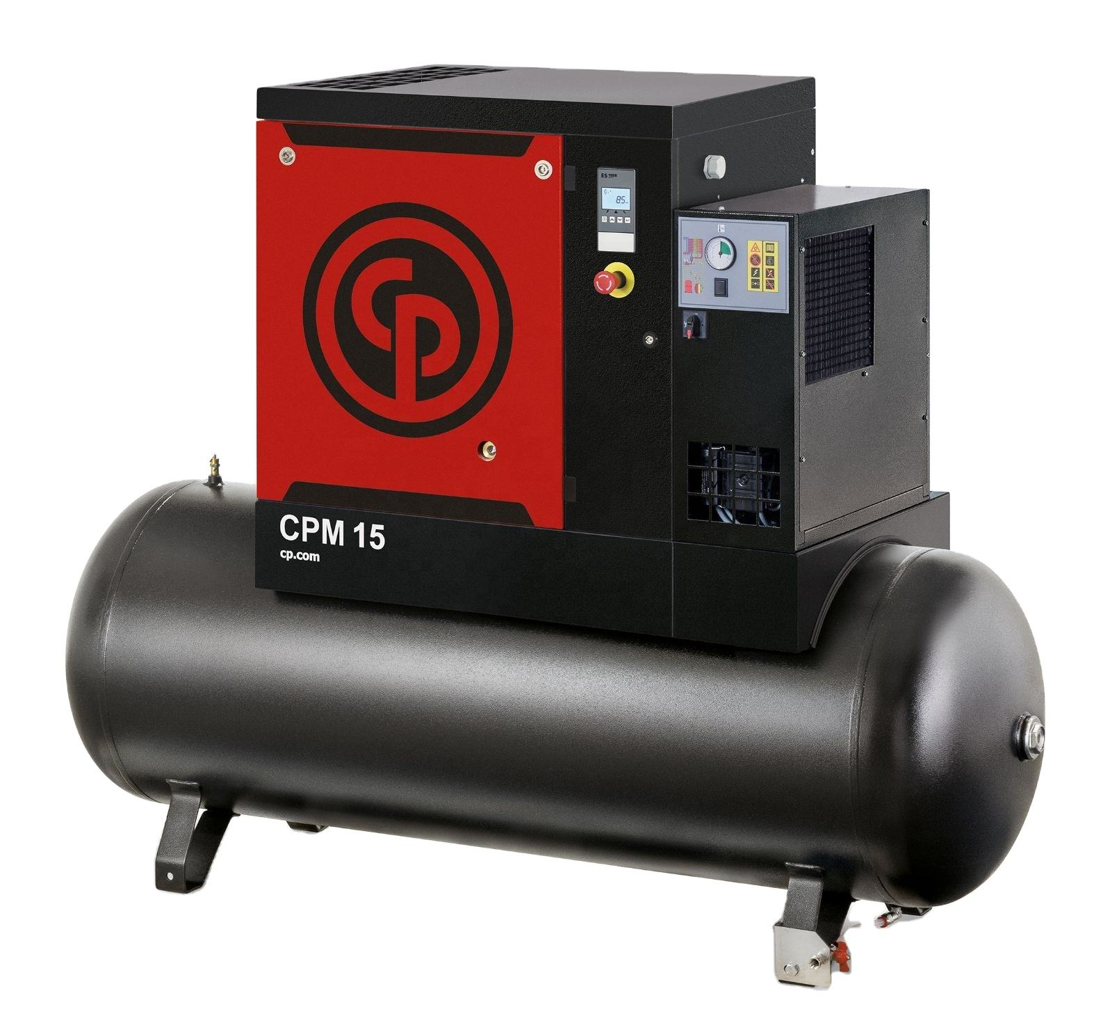Chicago Pneumatic Low noise air-compressor machines price rotary screw air compressors with tank and dryer