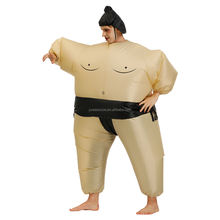 Cheap popular Sumo inflatable clothing for sale 6 colors inflatable sumo fat costumes halloween party costume for men women