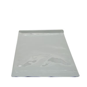 Shenzhen Manufacturer White Plastic Zipper Side Gusset Food Packaging Bags