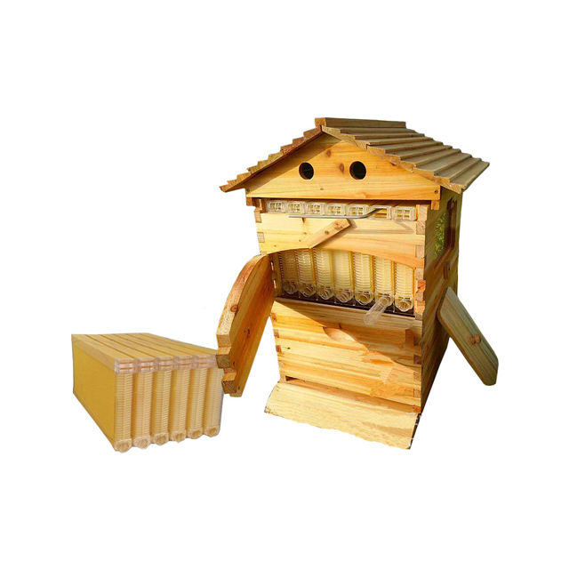Beehive with Good Price High Quality Pine Fir Wooden Bee Hive National Beekeeping Equipment Hive for Bees