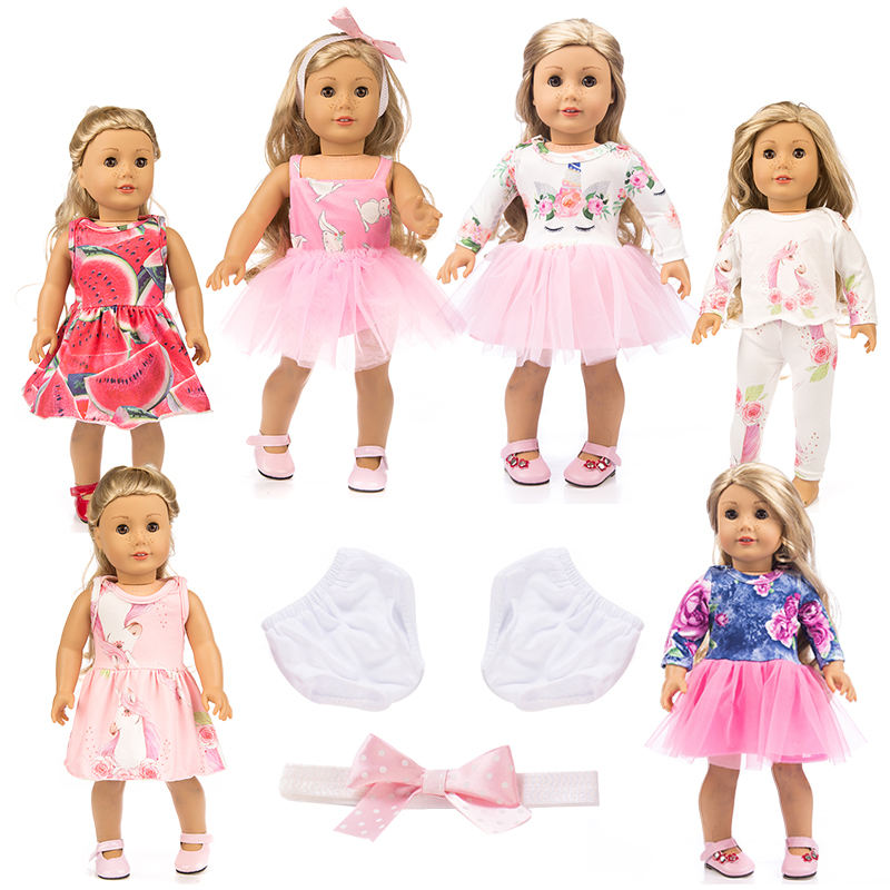 Variety of multi-color casual american girl doll clothes 18 inch,doll accessories clothes,girl doll matching clothes
