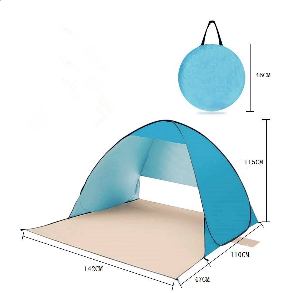 Custom print outdoor camping waterdichte pop up strand zonnescherm tent