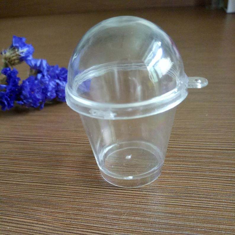 Plastic Mini Snow Globe Keychains Diy Empty Mini Cups