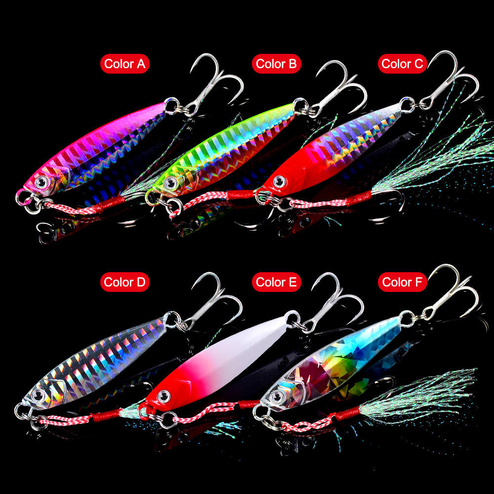 WEIHE 7G 10G 15G 20G 30G baits water fishing tackle jig metal vib fishing lure lead fish lure