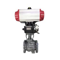 wafer type pneumatic flange butterfly valve