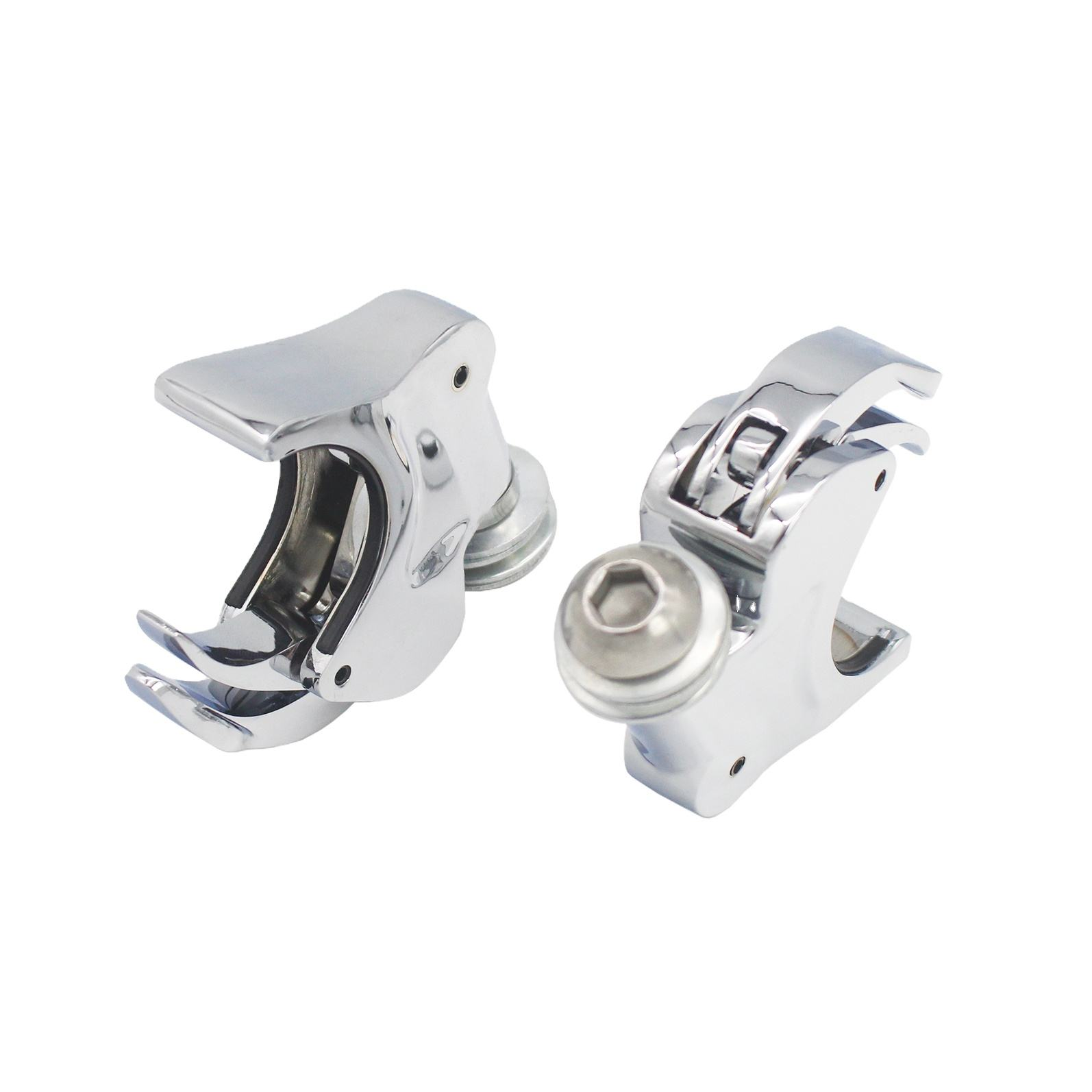 Sepeda Motor Chrome Zinc Alloy Bahan Kaca Depan Clamp Cocok 93-'05 FXDWG dan '88-'13 <span class=keywords><strong>FXS</strong></span>, FXST, FXSTB dan FXSTC Model