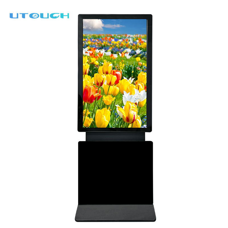 Floor Standing [ Floor Advertising ] Advertising Kiosk Shopping Mall 49 Inch Floor Standing Touch Screen Rotating Kiosk Digital Advertising Screen
