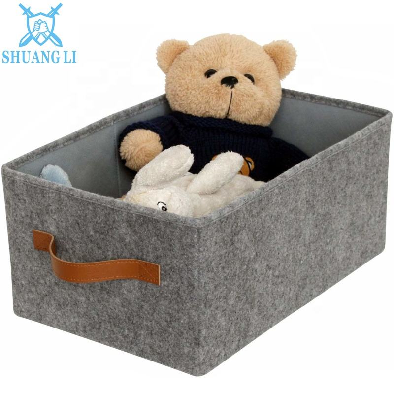 Stylish and Beautiful Felt Storage Basket with Small Volume, Used to Collect Books, Toys, and Sundries