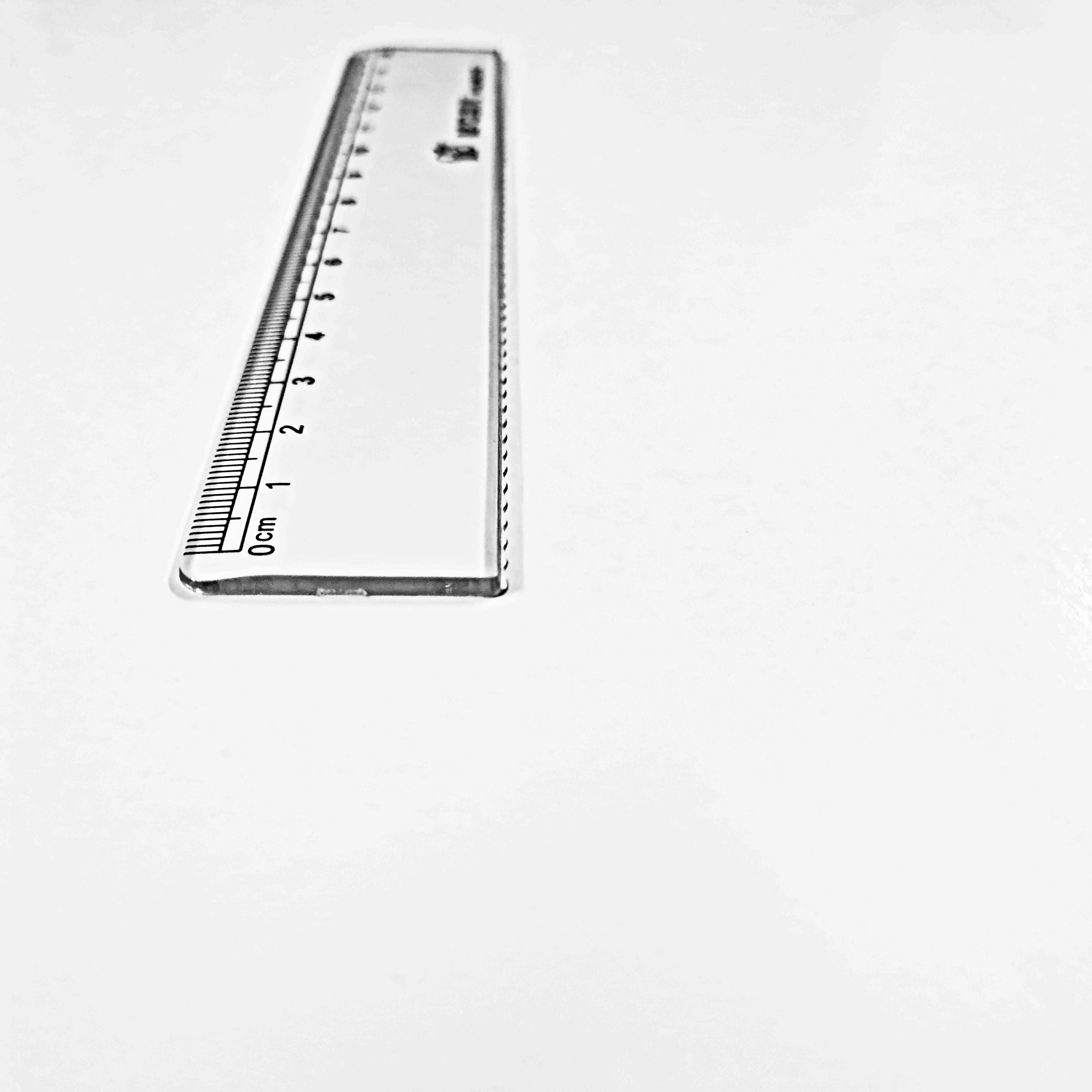Transparent 15 inch plastic scale ruler for students