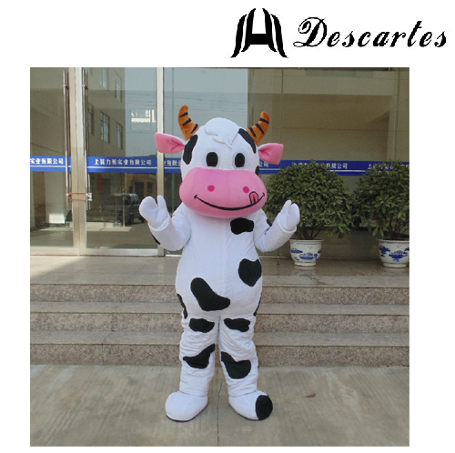 Festival Fancy Dress Adult Cow Mascot Costume Supplier Factory Price