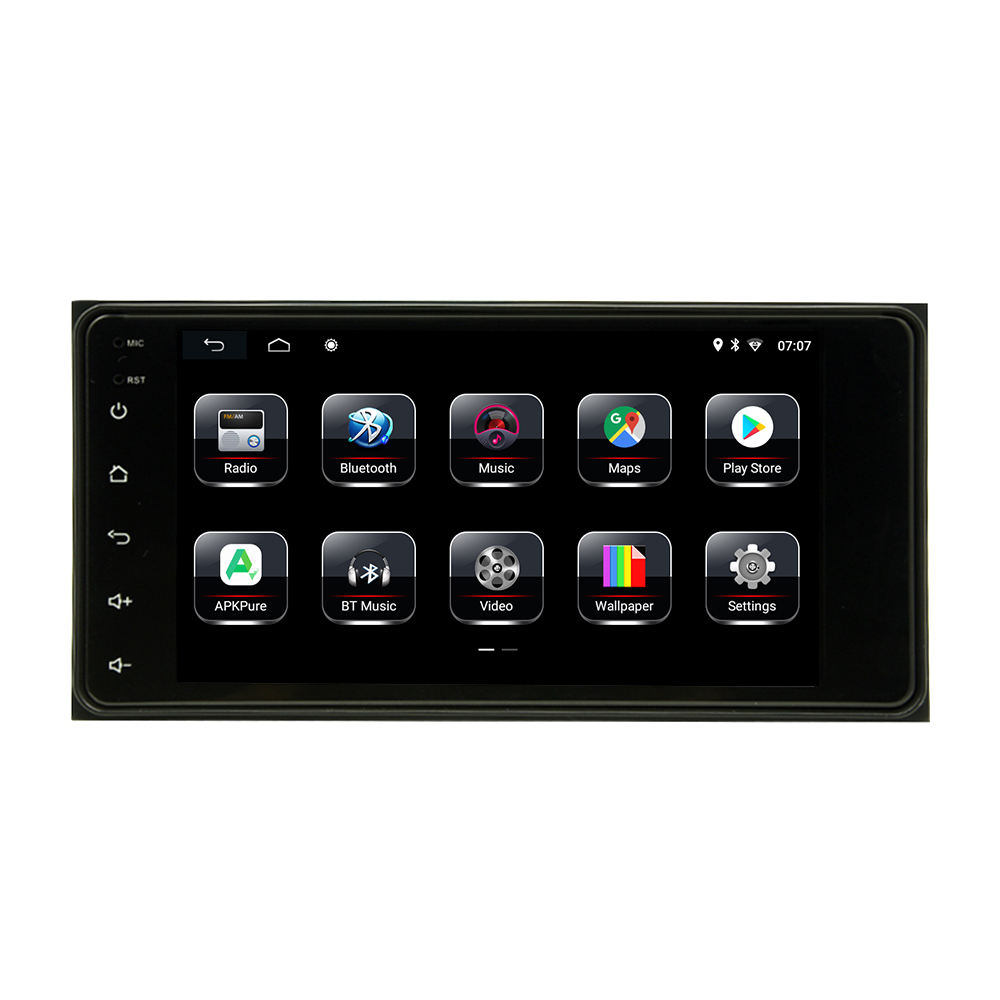 HT-8002D 7 inch 2003 2005 2006 2008 Wifi GPS Lcd Screen Universal Stereo Car Dvd Player for Toyota Corolla