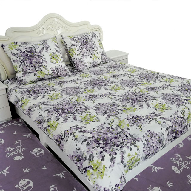 100 cotton printing bed sheet set /duvet cover set
