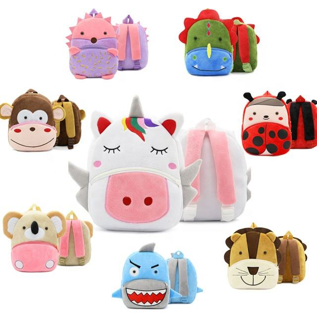 Unicorn school bag Animal Kids Backpack 3D Cartoon Plush Children Backpacks Trendy kindergarten Schoolbag for kids