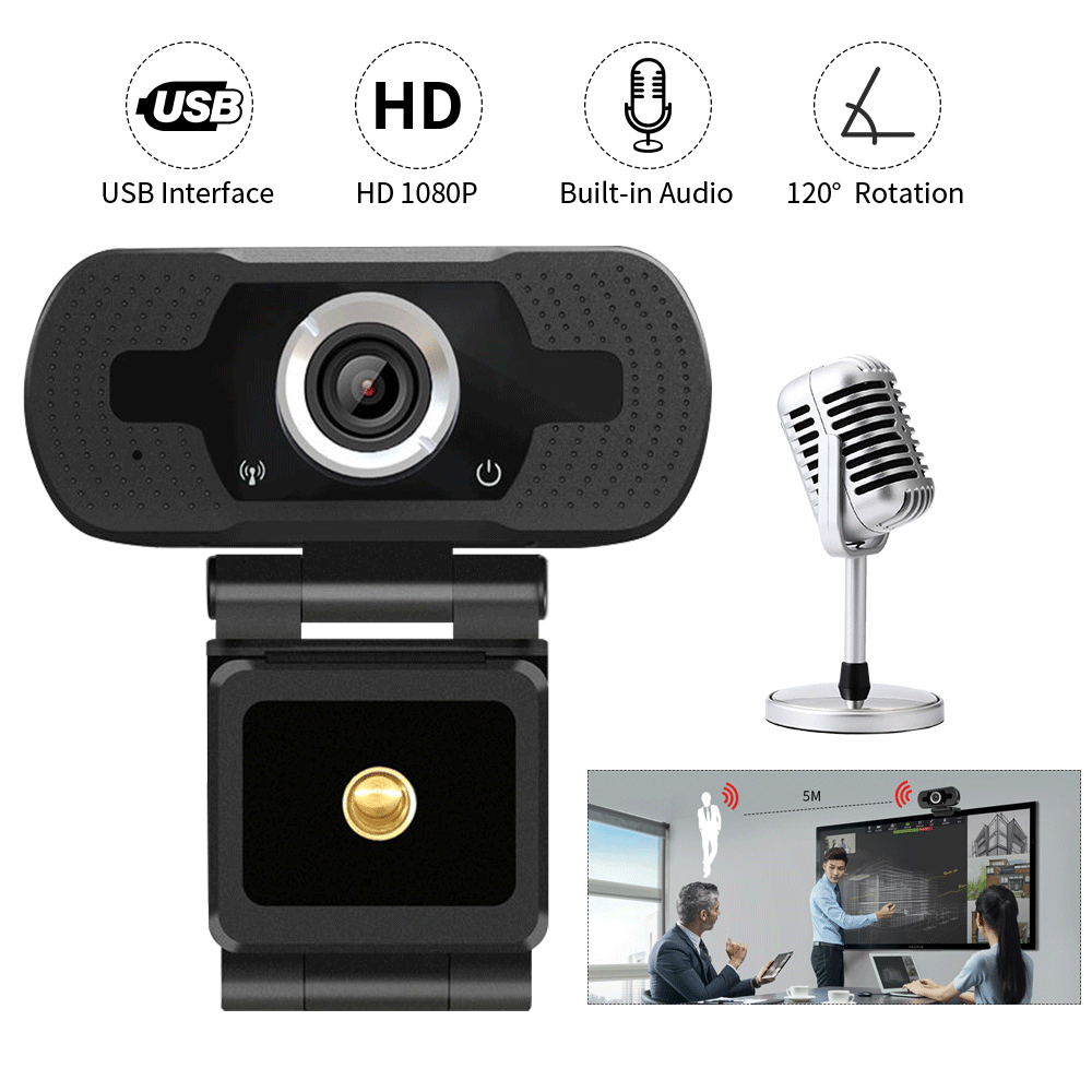 HD Autofokus Webcam 1080P Video Chat PC Computer Laptop Interne Online Klasse Tagungen Video Anruf Web Kamera Mit MIC mikrofon