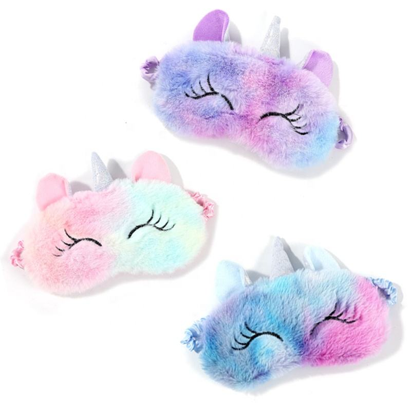 Furry Kids Cute Unicorn Sleep Eye Mask