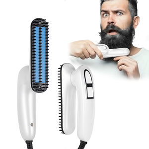 function hair iron men quick portable 100c white led 2019 amazon hair and beard straightener