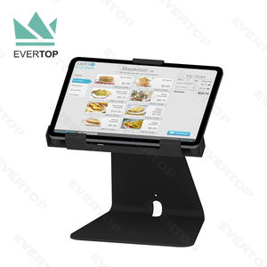 LST15-E Metal Key Locking Table Top Tablet PC Kiosk Display Stand, Secure Kiosk Touch Screen Stand Tabletop for iPad/android for