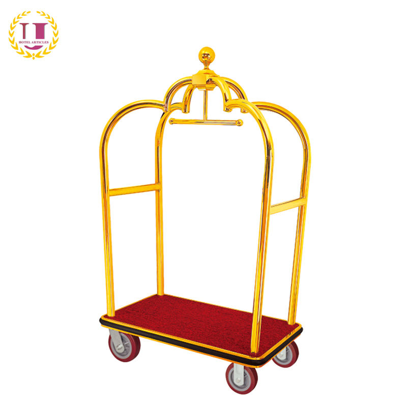 Hotel Supplies Wholesale Luggage Porters Trolley in Foshan