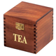 Great gift Idea elegent handmade natural brown square tea bag boxes wooden