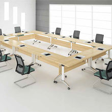 standard height 20 person office furniture set conference table and chair