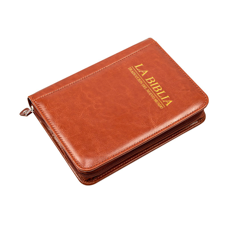 PU Leather Book Protector Christian Bible Case Bible Book Cover leather bible bag with Zippered for Men and Women