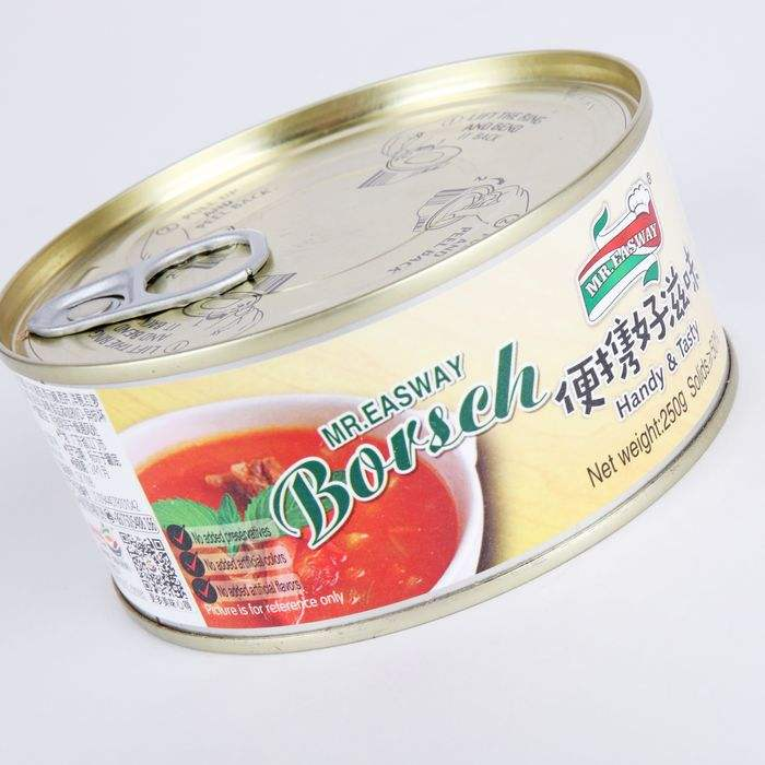 250g borscht beef food factory canned meat products for sale