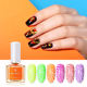BORN PRETTY 10ml Fluorescence Stamping Polish 8 Colors Green Purple Yellow Stamp Nail Art Polish