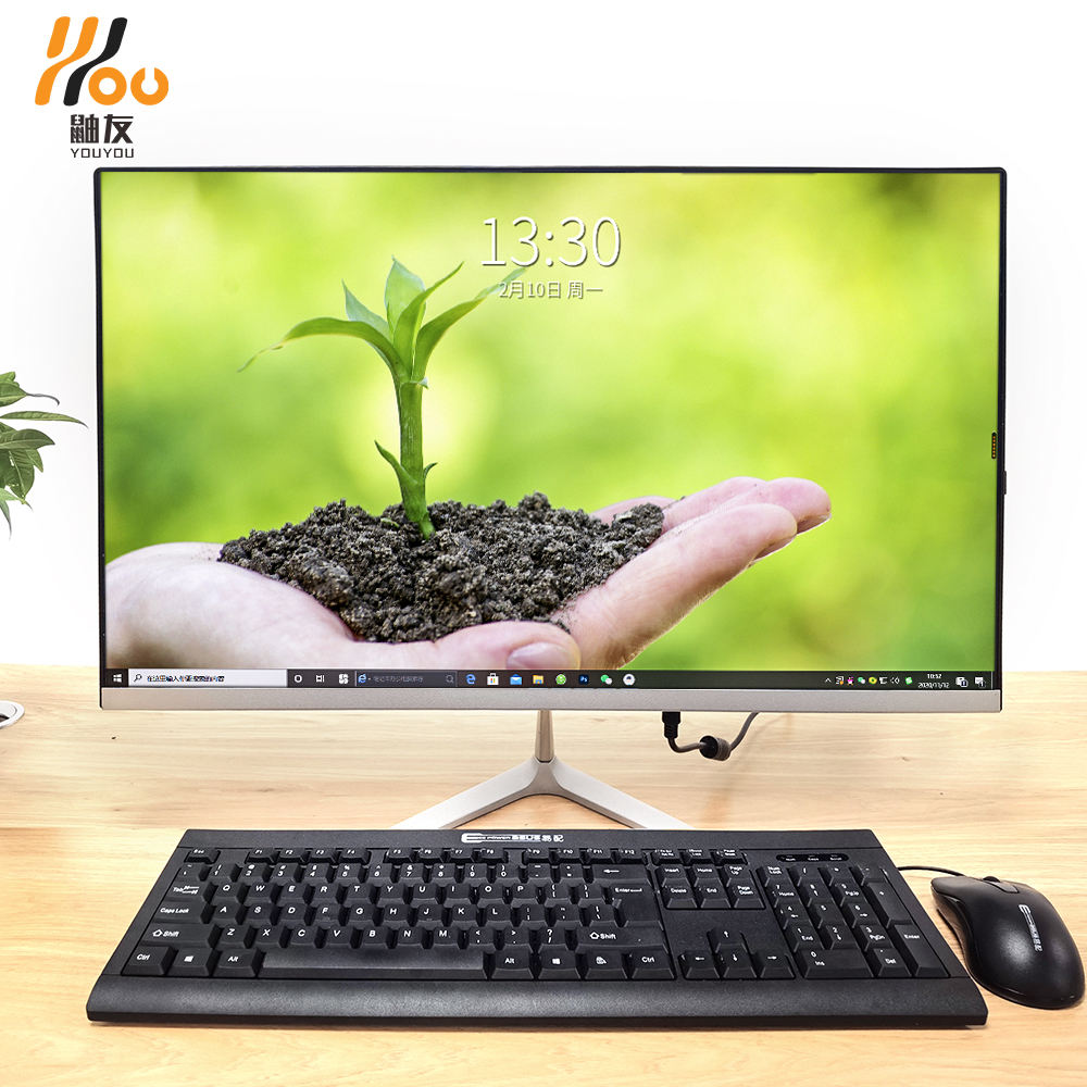 YOUYOU desktop computer all in one 22/24 inch monitor i3 i5 i7 8G RAM HDD SSD storage aio pc