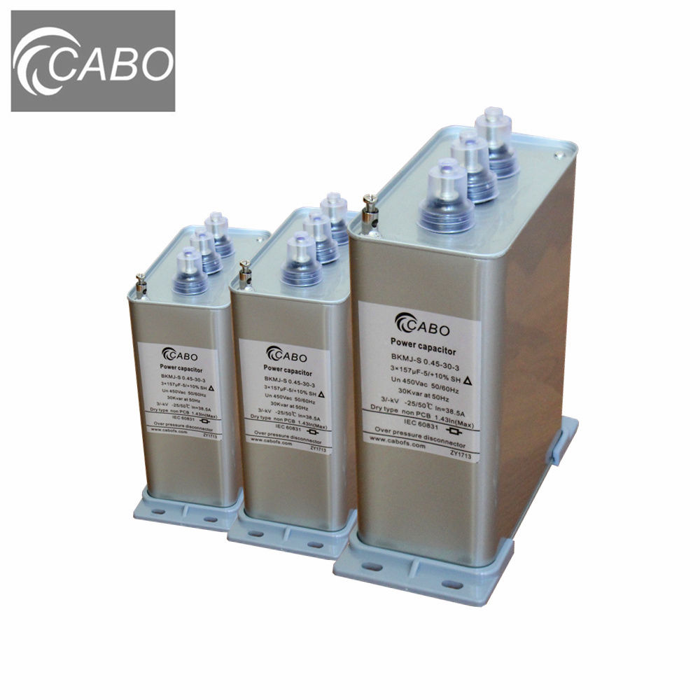 CABO BKMJ series ac 3 phase kvar 50hz low voltage capacitor banks power factor capicitor 440v