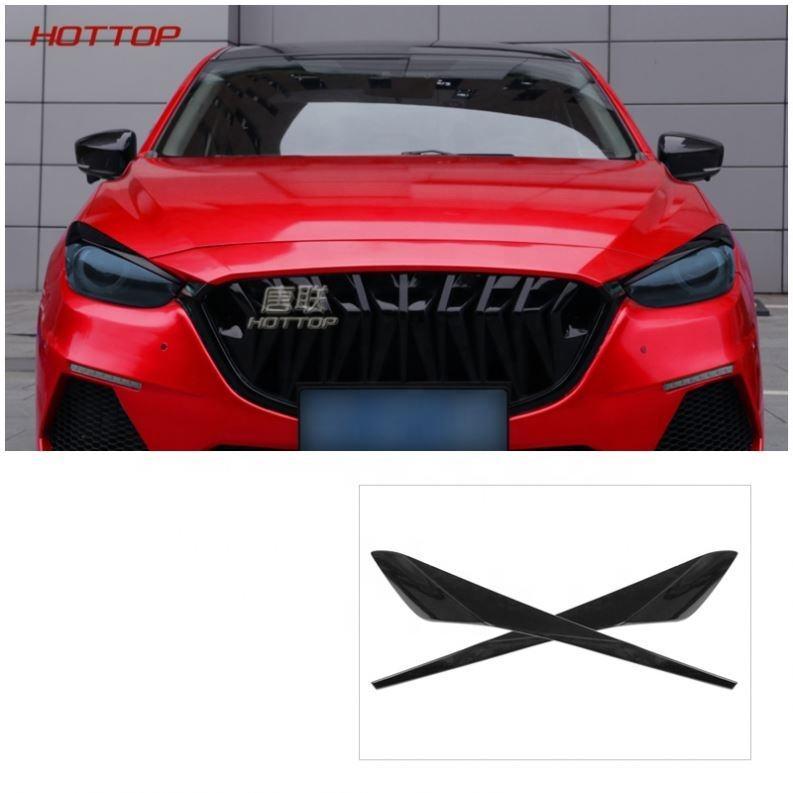 For Mazda 3 AXELA 2014-2016 Front Headlight Head Light Lamp Eyelid Cover Trim