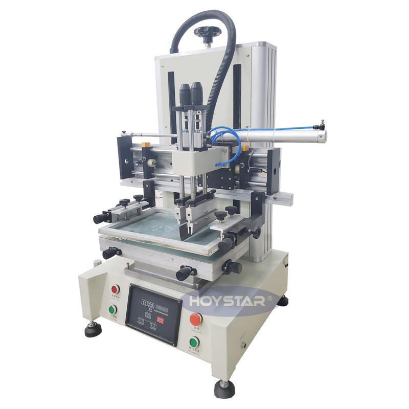 squeegee mesh fabric screen printing machine for dvd/cd single color