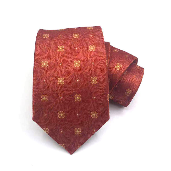 hot selling red ties design your own silk necktie