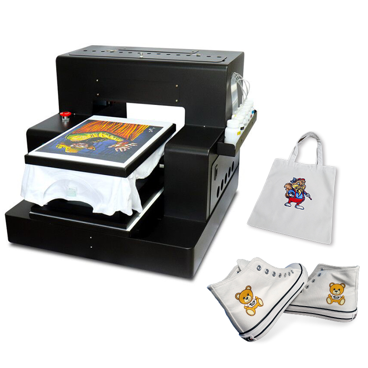 JETVINNER Fast Speed Automatic A3 Flatbed Printer A4size photo(Photo mode 111 seconds) For Epson Printhead L1800 Garment Printer