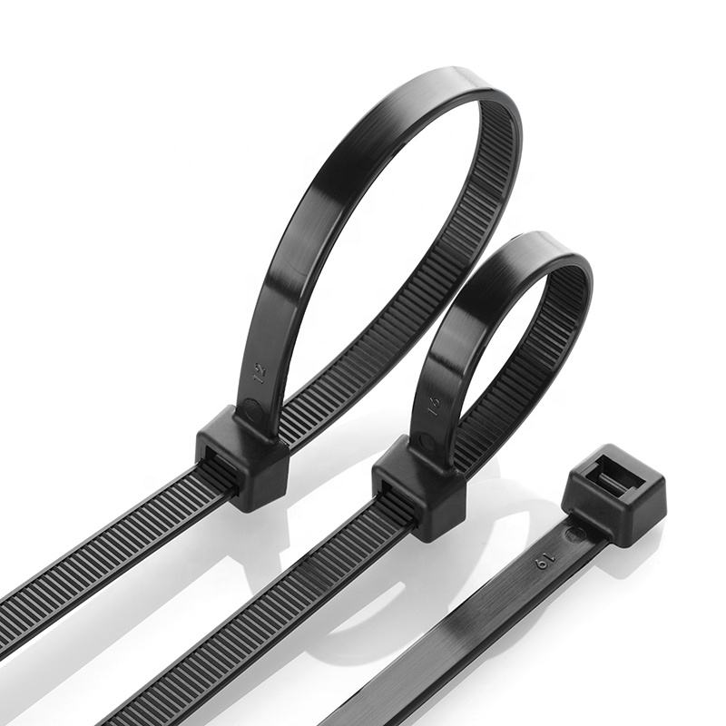 "7/"" Releasable Nylon Cable Zip Tie UV Black 50 lb 500 Count"