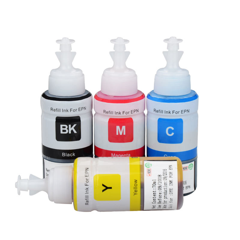 Bottle Refillable Dye Ink Compatible for Epson L100 L110 L120 L132 L210 L222 L300 L312 L355 L350 L362 L366 L550 L555 L566 L375